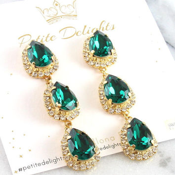 Best emerald chandelier earrings products on wanelo emerald chandelier earringsemerald statement earringsemerald drop earringsemerald dangle earrings mozeypictures Images