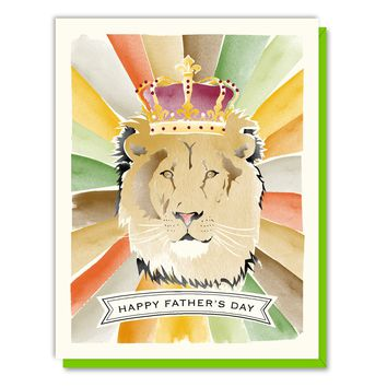 Father's Day Lion Card