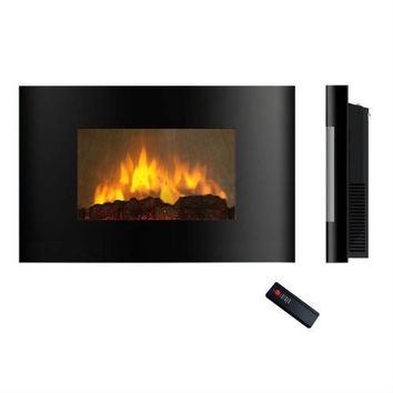 Modern Wall Mounted Electric Fireplace Heater with Remote Control