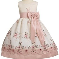 Organza & Taffeta Dress - DustyRose Pink Lilac Silver Navy Yellow (Infant-Girl)