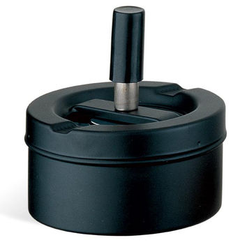 Visol Circle Stash Matte Black Ashtray