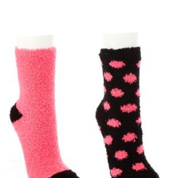 Two Tone Fuzzy Socks - 2 Pack by Charlotte Russe