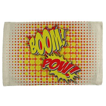 Boom Pow Vintage Comic Book All Over Hand Towel