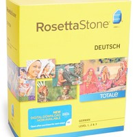 Rosetta Stone German Level 1-3 Interactive Language Learning Software - Yellow