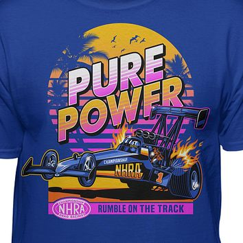 """NHRA Official """"Pure Power"""" 80s Style T-Shirt"""