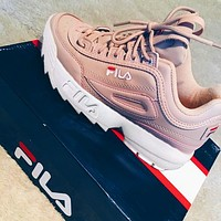 FILA Running Sport Casual Shoes Sneakers Pink