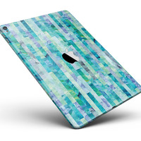"""Aqua Watercolor Patchwork Full Body Skin for the iPad Pro (12.9"""" or 9.7"""" available)"""