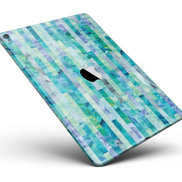 "Aqua Watercolor Patchwork Full Body Skin for the iPad Pro (12.9"" or 9.7"" available)"
