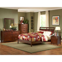 5 PC Rivera Contemporary Bedroom Set (Bed, Night Stand, Dresser, Mirror and Chest) | Bedroom sets HE-1440-1-SET-5/0