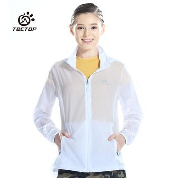 Tectop Outdoor Men Women's Fast Drying Waterproof Wind Protector Sun Protection Skin Jacket Quick Dry Cloth Camping Clothing
