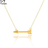 2016 Bff One Direction Gold Arrow Necklaces Vintage Collar Choker Necklace Women Body Chain Bone Pendant Maxi Necklace