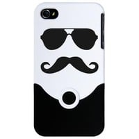 Mustache and Glasses iPhone 4 Case