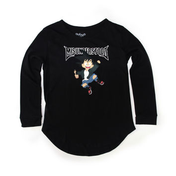 Entree Kids Goku Scallop Black Long Sleeve Shirt - 3 Left!