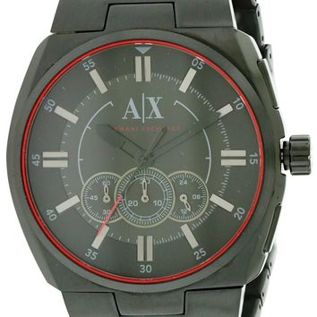 Armani Exchange Black Stainless Steel Watch AX1801