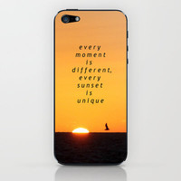 every moment is different, every sunset is unique... iPhone & iPod Skin by Marianna Tankelevich
