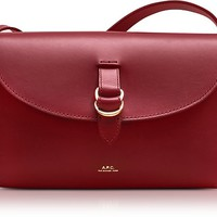 A.P.C. Red Leather Alicia Shoulder Bag