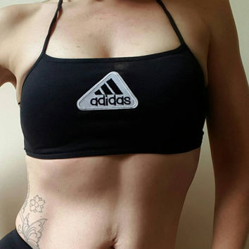 reworked adidas crop bra top