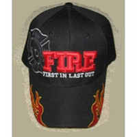 """FIREFIGHTER FIRE DEPT SHADOW CAP HAT """"FIRST IN LAST OUT"""" BUY 1 GET 1 FREE !"""