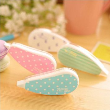 Korea Stationery Cute Candy Color Correction Tape Decorative Adhesive Tape Correction Fluid School Office Supplies
