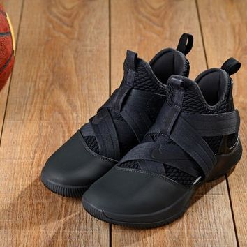 Nike LeBron Soldier 12 Black Sneakers - Best Deal Online