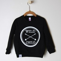 Wild Child Black Sweater - Slyfox Threads