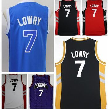 Hottest 7 Kyle Lowry Jersey Throwback Purple White Black Red Blue Team Color Kyle Lowry Retro Shirt Uniform Rev 30 New Material Top Quality