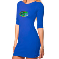 Florida Gators Ladies Royal Blue Fitted Rhinestone Half Sleeve Dress