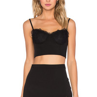 NBD x REVOLVE Hear Me Bustier Top in Black