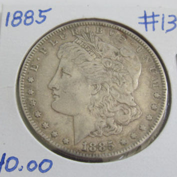 1885 Silver Dollar Antique Coins 1885 Morgan Dollar 1885 USA Silver Coins Antique US  Coin Silver US Currency Rare Coin