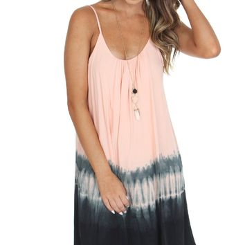 Tie Dye Scoop Dress Rose
