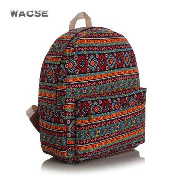 LMFUG3 Canvas Fashion Stylish Casual Plaid Backpack = 4887773700