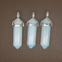 1PC Opalite  Point Pendulum Pendant Healing Crystal Point Pendulum Great gift for Her
