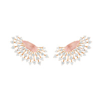 Luminus Earrings in Rose Gold with Diamonds and Pink Quartz