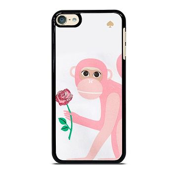 KATE SPADE MONKEY APPLIQUE iPhone X black rubber iPhone Case