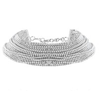 Luxury Rhinestone Multilayer Crystal Choker