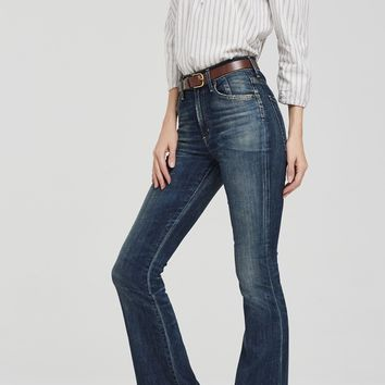 Fleetwood Petite High Rise Flare in Harvest Moon