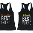 Matching Tank Tops for BFF - Brunette and Blonde Best Friend Tank Tops