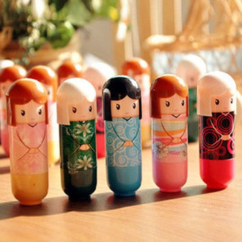 Cute Kimono Doll Natural Harmless Plant Moisturizing Healthy Lipstick Lip Pen = 1706113412