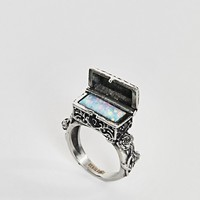 Regal Rose Life & Death Casket Box Opal Ring at asos.com