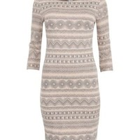 New Look Mobile | Pink Aztec Print Bodycon Dress