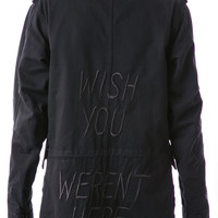 UNIF Wish You Weren't Trench Faded Black