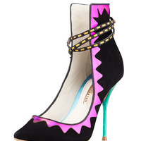 Sophia Webster Roka High-Back Holographic Pump, Black Multi