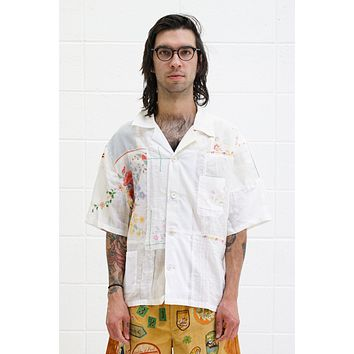 One Of A Kind Handkerchief Patchwork Shirt - Size L/XL