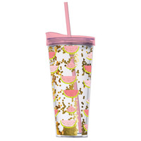 Watermelon & Confetti Double Wall Tumbler w Hot/Cold Lid