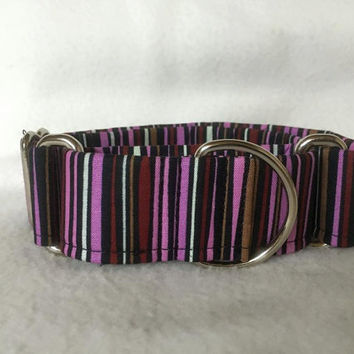 "Felicity Stripe Berry Martingale or Quick Release 5/8"" Quick Release 3/4"" 1"" Martingale 1.5"" Martingale 2"""