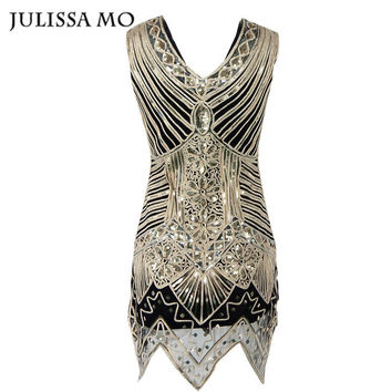 Julissa Mo 2016 New Party Women Sexy Dresses Sequins  Handmade Diamond Sequined For Women Club Wear Vintage Dress Vestidos