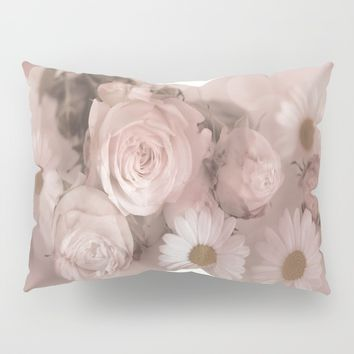 Pink Florals Pillow Sham by Theresa Campbell D'August Art