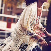 Free People Clothing Boutique > Headed West Embroidered Poncho