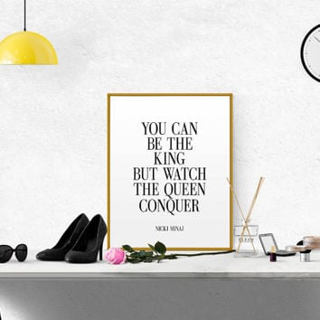 NICKI MINAJ ART Nicki Minaj Print Gift Idea Black And White Typography Inspirational Quote Nicki Minaj Girl Room Decor Girly Quote Poster