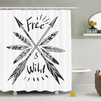 Free & Wild Native Arrows Shower Curtains